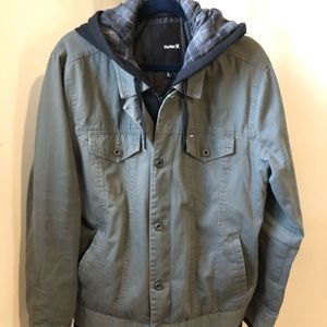 Hurley Olive Green Casual Jacket